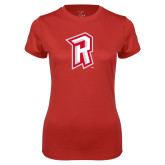 Ladies Syntrel Performance Red Tee-R Mark