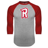 Grey/Red Raglan Baseball T Shirt-R Mark