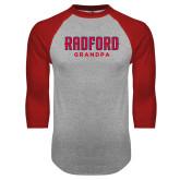 Grey/Red Raglan Baseball T Shirt-Grandpa