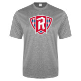 Performance Grey Heather Contender Tee-R in Shield