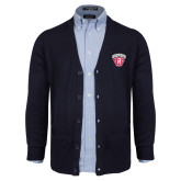 Navy V Neck Cardigan w/Pockets-Primary Mark