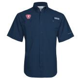 Columbia Tamiami Performance Navy Short Sleeve Shirt-R in Shield