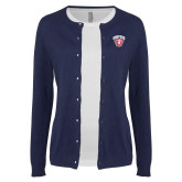Ladies Navy Cardigan-Primary Mark