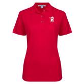 Ladies Easycare Red Pique Polo-R Mark
