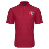 Red Horizontal Textured Polo-R in Shield