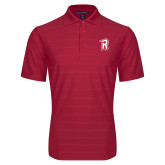 Red Horizontal Textured Polo-R Mark