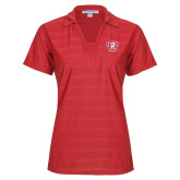 Ladies Red Horizontal Textured Polo-R in Shield