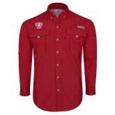 Columbia Bahama II Red Long Sleeve Shirt-R in Shield