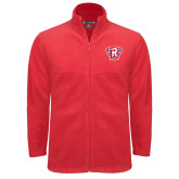 Fleece Full Zip Red Jacket-R in Shield