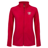 Ladies Fleece Full Zip Red Jacket-R in Shield