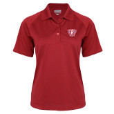 Ladies Red Textured Saddle Shoulder Polo-R in Shield