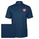 Navy Performance Fine Jacquard Polo-R in Shield