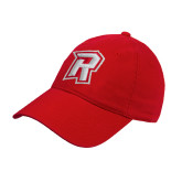Red Twill Unstructured Low Profile Hat-R Mark