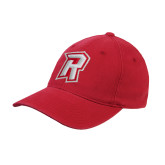 Red OttoFlex Unstructured Low Profile Hat-R Mark