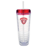 Tritan Double Wall Tumbler w/Red Top 26oz-Primary Mark