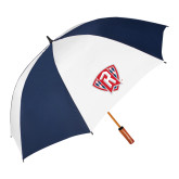 62 Inch Navy/White Vented Umbrella-R in Shield