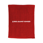 Red Rally Towel-Primary Mark Flat