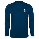 Syntrel Performance Navy Longsleeve Shirt-Icon