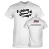 White T Shirt-Fighting Hunger