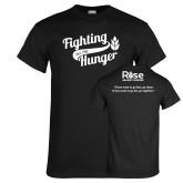 Black T Shirt-Fighting Hunger