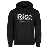 Black Fleece Hoodie-Rise Against Hunger 2030 is Possible