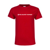 Youth Red T Shirt-Primary Mark Flat