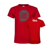 Youth Red T Shirt-This Shirt Feeds - Grunge Texture