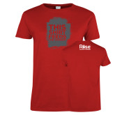 Ladies Red T Shirt-This Shirt Feeds - Grunge Texture