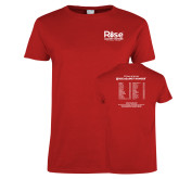 Ladies Red T Shirt-Primary Mark w/ Tagline