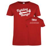 Ladies Red T Shirt-Fighting Hunger
