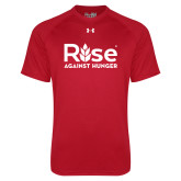 Under Armour Red Tech Tee-Primary Mark
