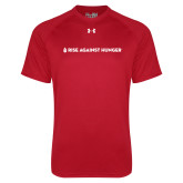 Under Armour Red Tech Tee-Primary Mark Flat