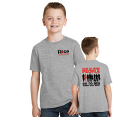 Youth Grey T Shirt-Primary Mark w/ Tagline