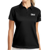 Ladies Nike Dri Fit Black Pebble Texture Sport Shirt-Primary Mark