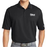Nike Golf Dri Fit Black Micro Pique Polo-Primary Mark