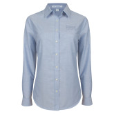 Ladies Light Blue Oxford Shirt-Primary Mark