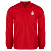 V Neck Red Raglan Windshirt-Icon