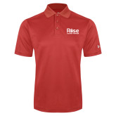 Under Armour Red Performance Polo-Primary Mark