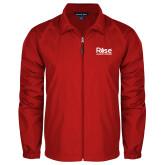 Full Zip Red Wind Jacket-Primary Mark
