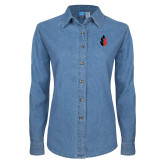 Ladies Denim Long Sleeve Shirt-Icon