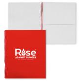 College Spiral Notebook w/Red Coil-Primary Mark w/ Tagline