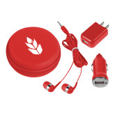 3 in 1 Red Audio Travel Kit-Icon