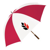 62 Inch Red/White Vented Umbrella-Icon