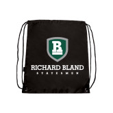 Black Drawstring Backpack-Richard Bland Statemen Stacked