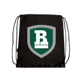 Black Drawstring Backpack-Shield