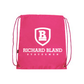 Pink Drawstring Backpack-Richard Bland Statemen Stacked