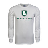 White Long Sleeve T Shirt-Richard Bland Statemen Stacked