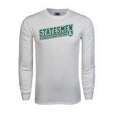 White Long Sleeve T Shirt-Statesmen - Richard Bland College