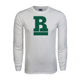 White Long Sleeve T Shirt-RB Stacked