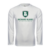 Performance White Longsleeve Shirt-Richard Bland Statemen Stacked